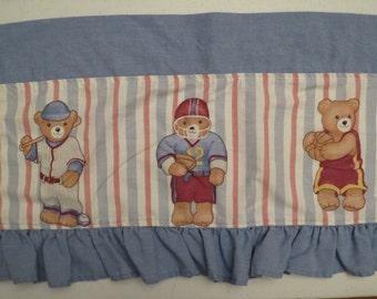Set of 2 Vintage Teddy Bear Valances