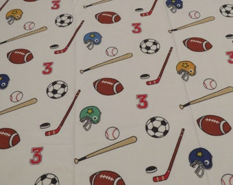 Vintage Fun Sports twin flat and fitted sheets