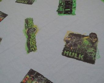 The Incredible Hulk twin flat sheet
