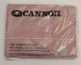 Vintage Cannon Irregular Full Flat sheet -New in package