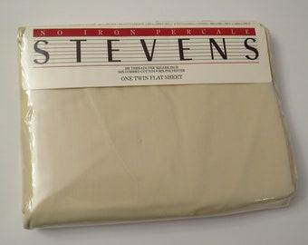 Vintage Stevens Twin flat sheet -new in package
