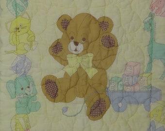 Vintage Teddy Bear small zip up blanket