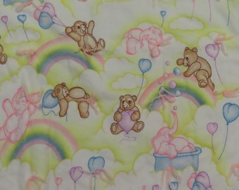 Vintage Teddy Bears and Pink Elephants small blanket