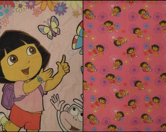 Dora the Explorer Crib bed set -includes comforter, flat, fitted, and pillowcase