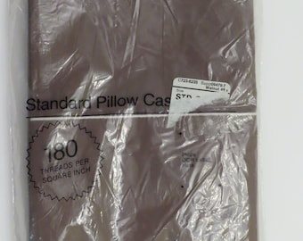 """Set of 2 Vintage JC Penney """"Walnut"""" pillowcases -New in package"""