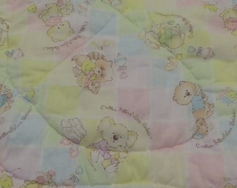 Vintage Critter Sitters small quilted zip-up blanket