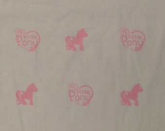 My Little Pony crib top and bottom sheets