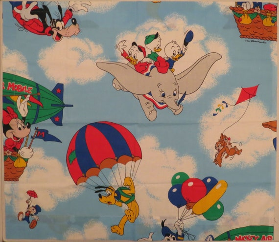 Set of 2 Vintage Mickey Mouse curtains