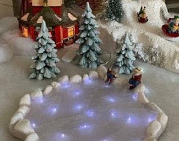 Lighted Ice Skating Pond