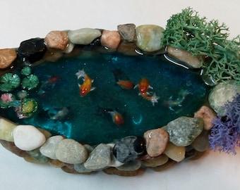 Miniature Freeform Koi Pond