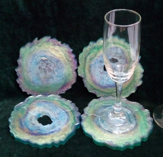 Geode/Agate-inspired Coasters