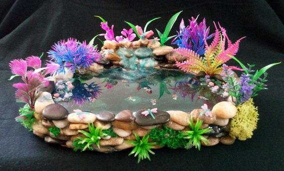 Andi's Custom Stone Dragonfly Waterfall