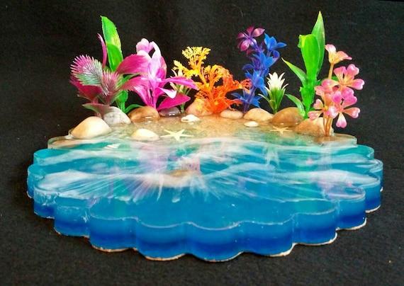 Tropical Beach Figurine Display