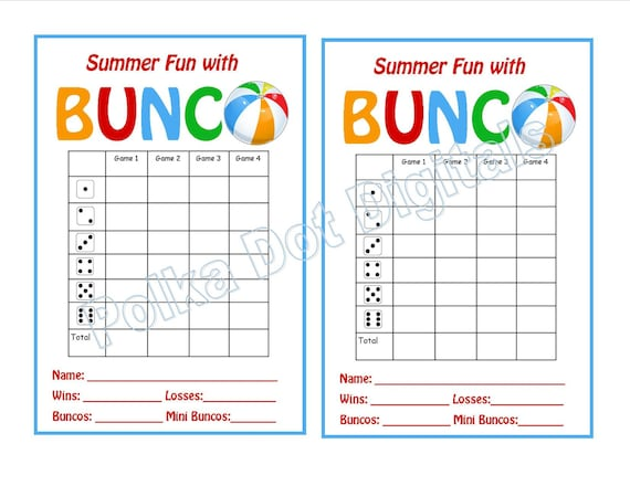 photo regarding Free Printable Bunco Score Sheets named Invest in 2 Take 1 Absolutely free Summertime Seaside Bunco Ranking Card Sheet with Matching Desk Figures and Desk Tally Sheets Digtal Report Obtain PDF