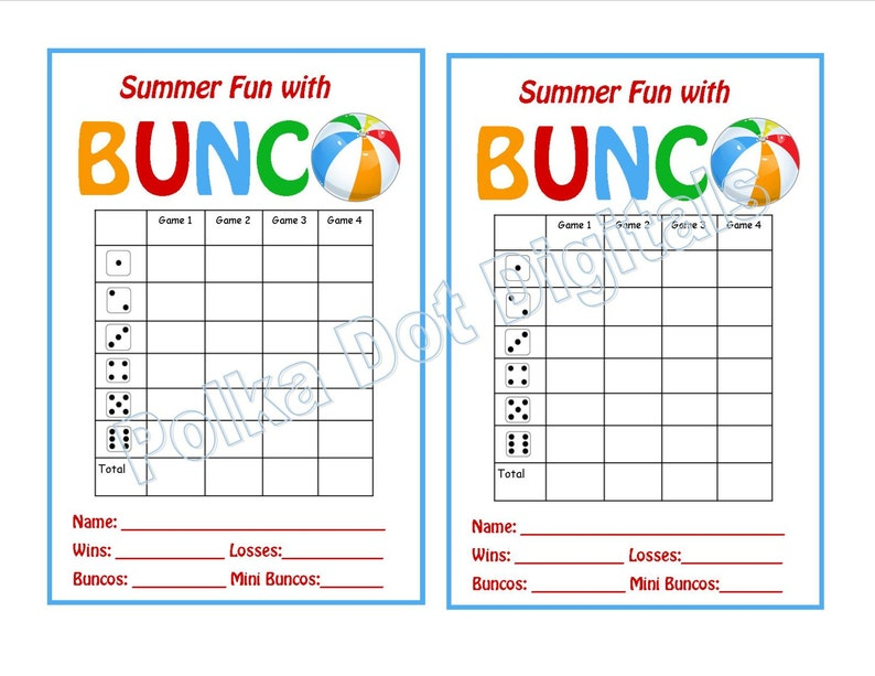 image regarding Cute Bunco Score Sheets Printable identify Purchase 2 Receive 1 Totally free Summer months Beach front Bunco Ranking Card Sheet with Matching Desk Quantities and Desk Tally Sheets Digtal Document Down load PDF