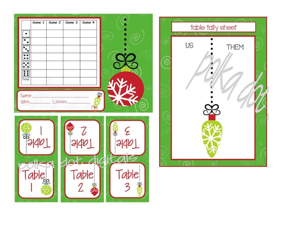 Lucrative image within free printable bunco score cards