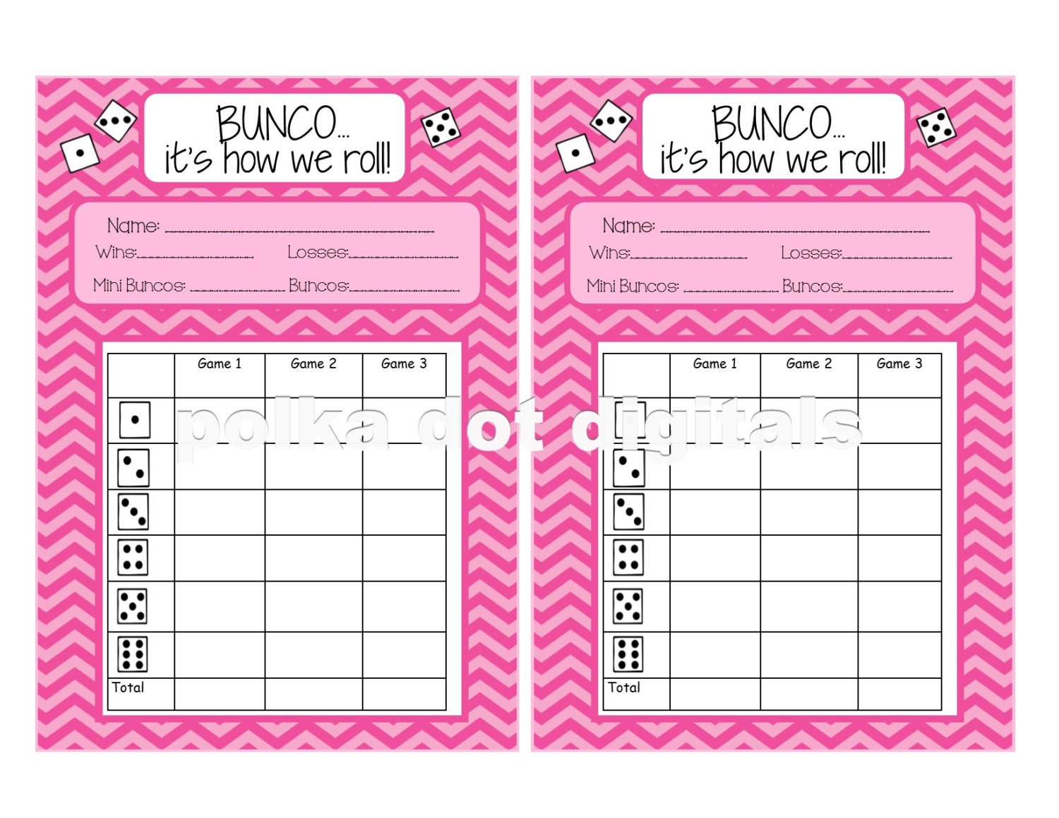 Nerdy image throughout bunco score sheets free printable