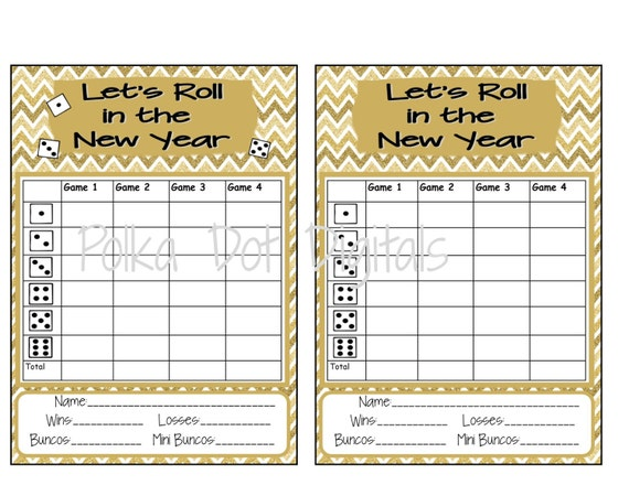 It is a graphic of Printable Bunco Sheets regarding summer time