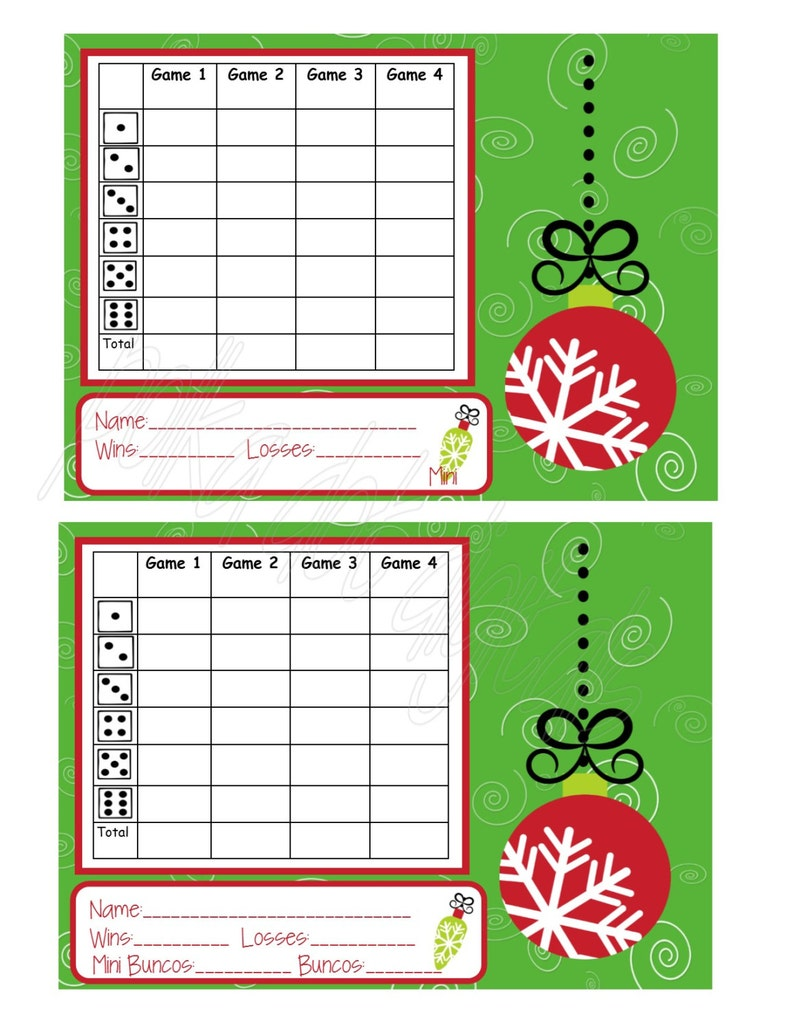 Buy 2 Get 1 Free Christmas Ornaments Complete Set Bunco Score Card Sheet Matching Table Numbers Tally Sheet Printable Digtal File Download Party Supplies Paper Party Supplies Deshpandefoundationindia Org