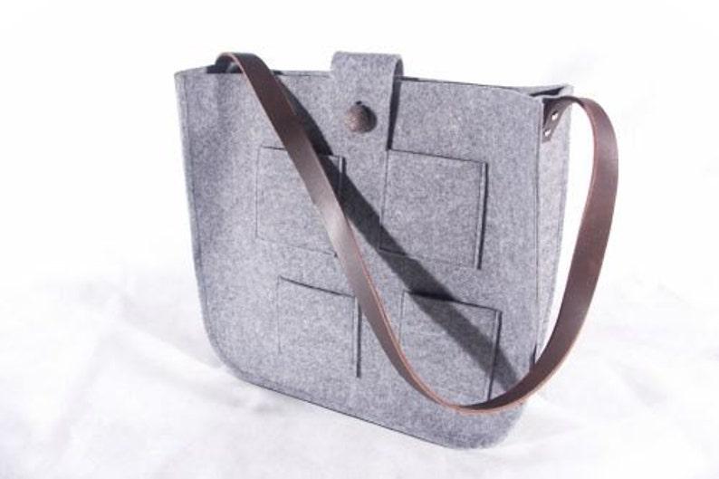 f5f7a91baf806 Grauer Filz Tasche Tasche Messenger Bag Filz Tasche große
