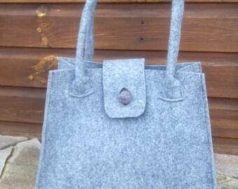 Grey felt tote bag, Felt Tote Bag, Tote, Felt purse,Grey felt tote bag,handbag, shoulder bag tote felt