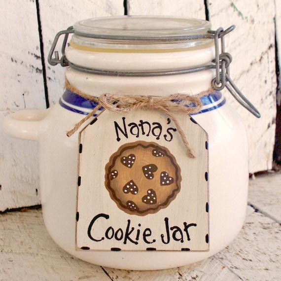 Rustic Cookie Jar Best Personalized Cookie Jar Tag Custom Jar Label Rustic Hand Etsy