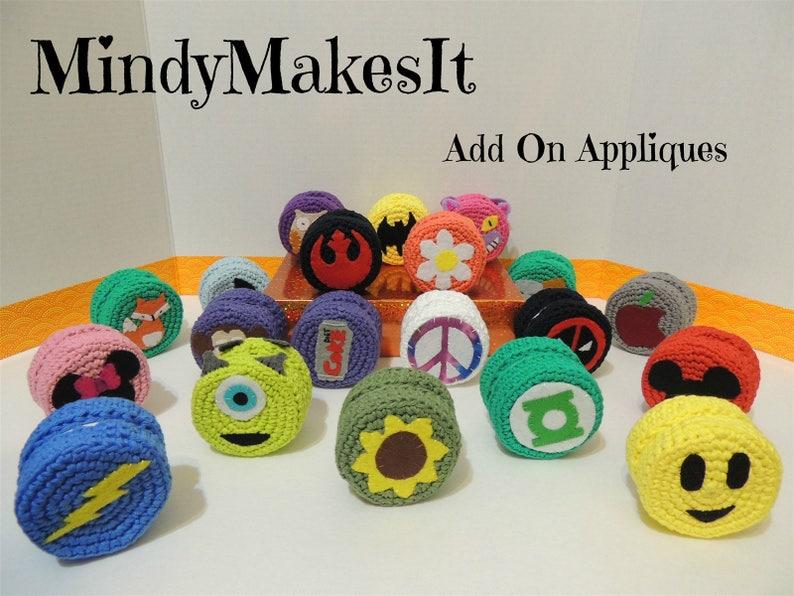 Smile Emoji Choose Color Crochet Custom Sizes Call Center MindyMakesIt Headset Ear Cushions Headphone Ear Covers Adjustable