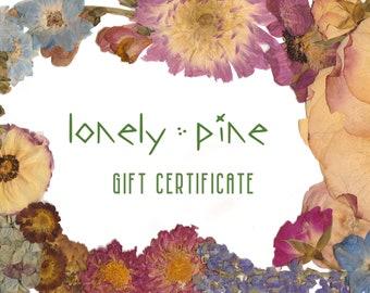 Gift Certificate, Pressed Wedding Flowers, Wedding Gift, Bridal Shower Gift, Wedding Bouquet Preservation, Flower Preservation Gift