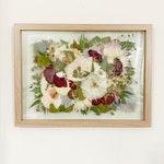 Pressed and Framed Wedding Bouquet, Custom Wedding Flower Art, Wedding Memento, Pressed Flower Art, Wedding Flowers, 11x14, Framed Flowers