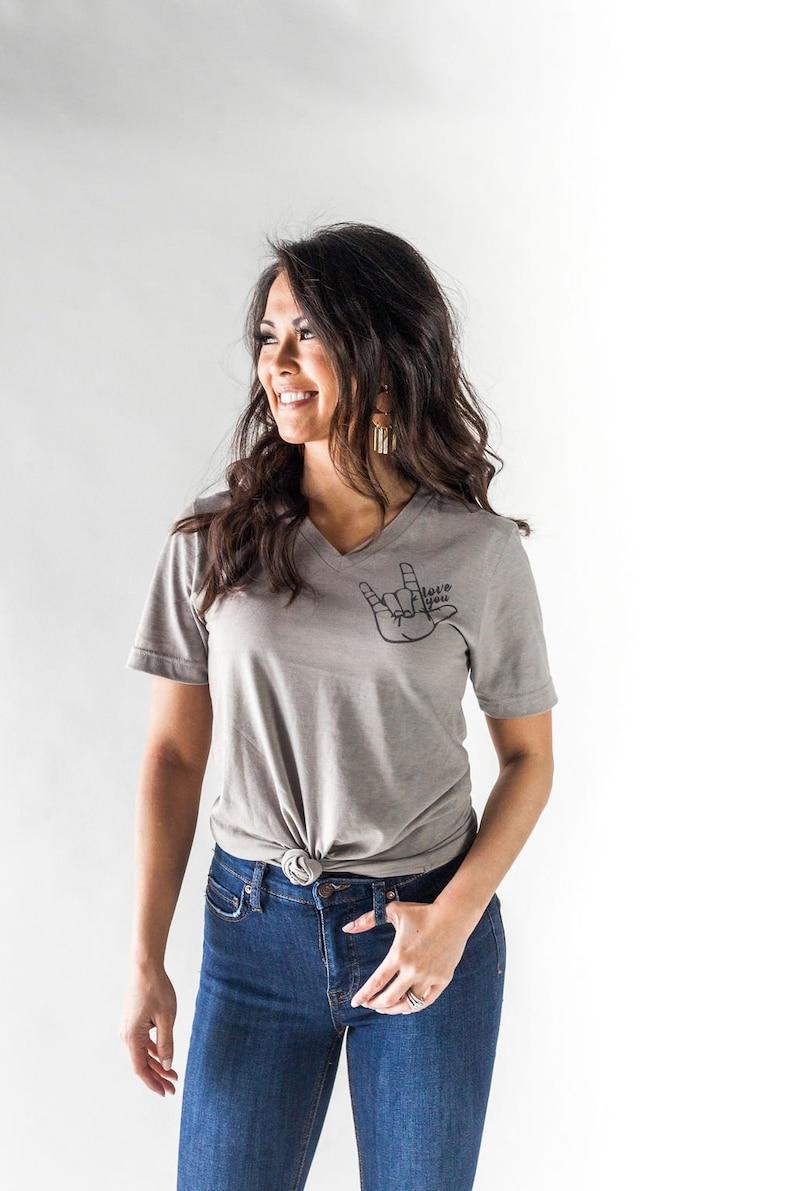 T shirt Easy-care i Love ASL-Standard Unisexe T-shirt Standard Unisexe T-Shirt