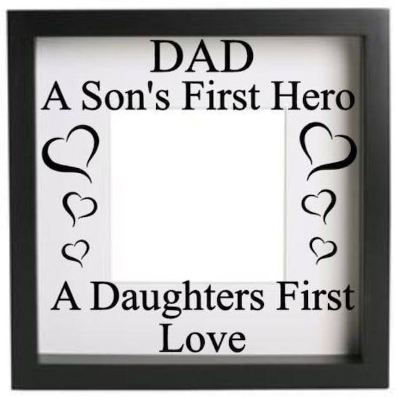 My Daddy My Hero Love you to the Moon /& Back Vinyl sticker for IKEA RIBBA FRAME