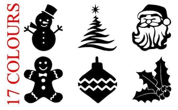 Christmas Vinyl Decals.Christmas Vinyl Decal Stickers Glitter Wine Glass Diy Craft Bauble Xmas