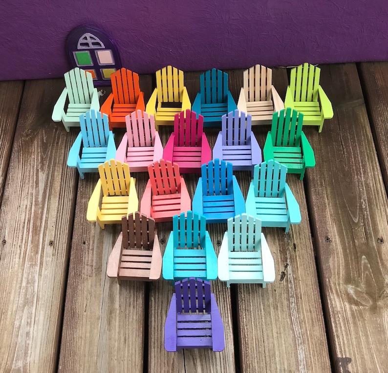 Mini Adirondack chairs various colors, Adirondack chairs, DIY chairs, mini  beach chair, fairy garden chair, Spring decoration, coastal chair
