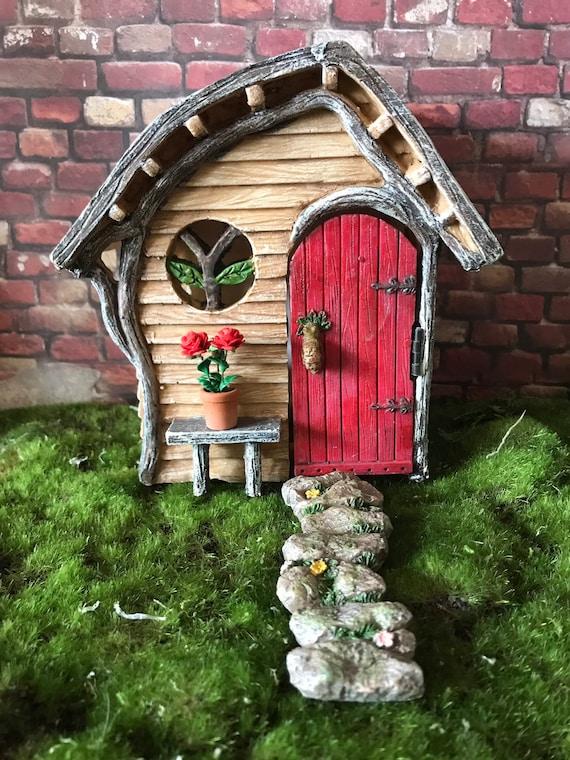 Garden Fairy Door and Windows set. 3 piece