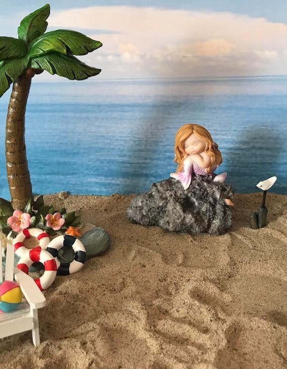 Brilliant Beautiful Miniature Mermaid Coastal Fairy Garden Mermaid Bench Fairy Accessories Bench Theme Fairy Garden Mini Mermaid Gmtry Best Dining Table And Chair Ideas Images Gmtryco