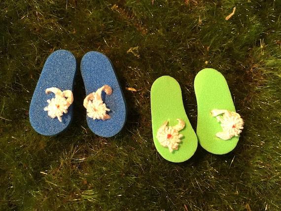 Miniature Flip Flops Fairy Garden Beach Garden Dollhouse Etsy