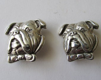 2 Vintage Bulldog Concho Findings Decorations Conchos