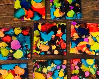 Set if 4 ceramic  coasters