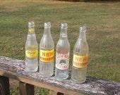 4 Vintage Soda Bottles Nu-Grape , NEWI, Atlanta, GA. Bedford, IN. Bowling Green, Ky.