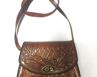 Vintage Embossed Leather Bag 2a3a3f88d5267