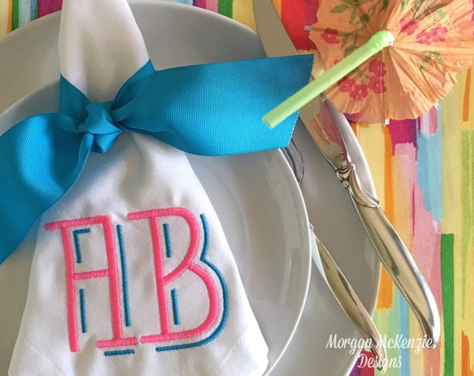 Featured listing image: Two-Letter Modern Monogram SET OF 4
