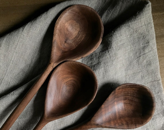 wooden spoon, hand carved from walnut
