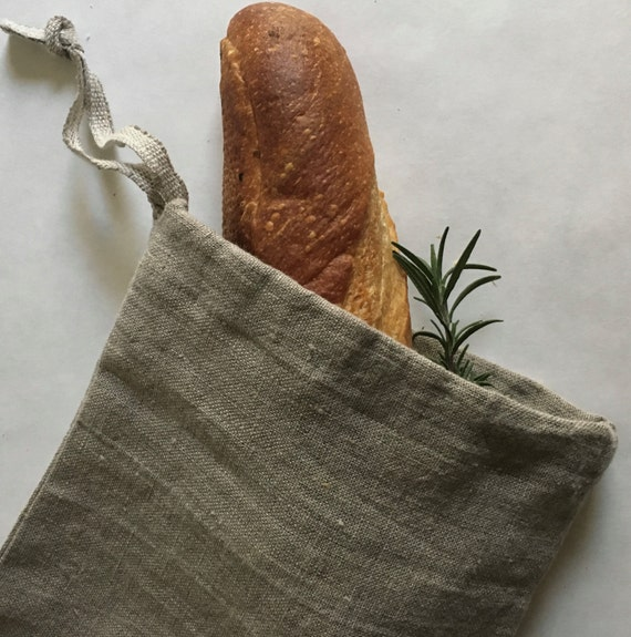 linen bread/baguette bag