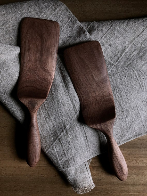 spatula, hand carved from walnut