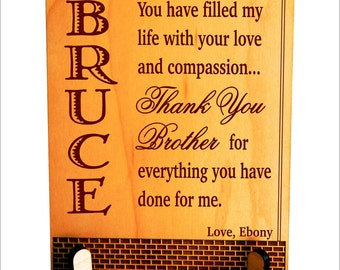 christmas gift for brother birthday gifts personalized plaque from sister plb023