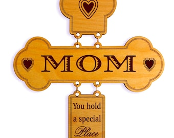 Mom Birthday Gifts - Gift for Christmas - Personalized Mothers Day Cross from Daughter, GDM3