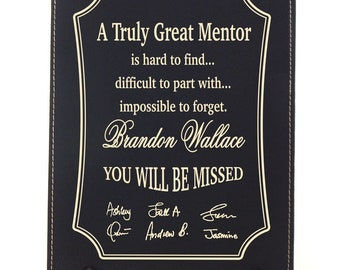 Retirement Gift for Boss - Gifts for Mentor Leaving - Personalized Farewell Plaque - Going Away Gift, LM01