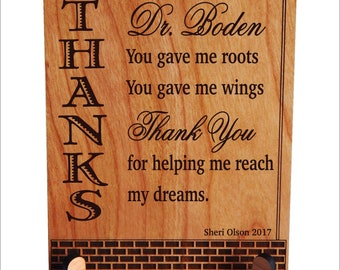 Mentor Teacher Gift - Gifts for College Professor -   Personalized Appreciation Plaque, PLT017