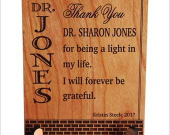 Teacher Gift for Professor - Teachers Gifts Personalized - Plaque from Classroom - Student, PLT023