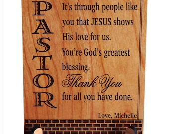 Appreciation Gift - Gifts for Pastor - Birthday or Fathers Day Plaque - Christmas Gift, PLP040